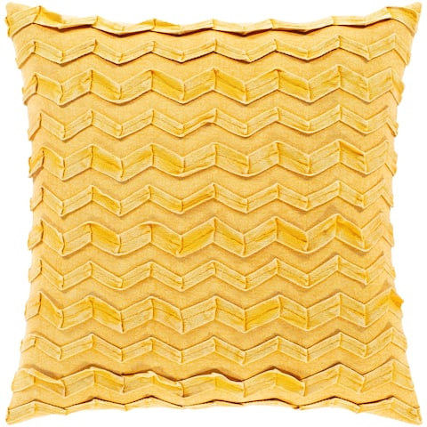 Colette Textured Chevron Cotton Throw Pillow