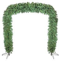 9' x 8' Commercial Size Green Pine Artificial Christmas Archway - Unlit