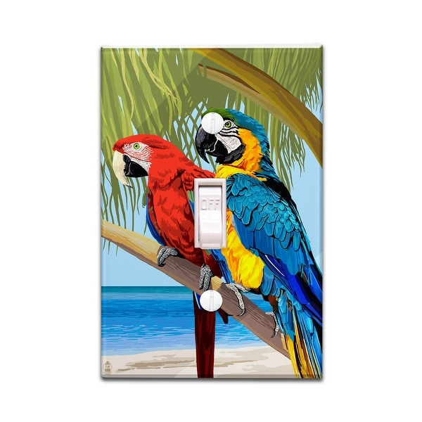 Parrots - Lantern Press Artwork (Light Switchplate Cover)