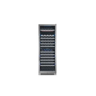 Avallon AWC241TDZRH 24 Inch Wide 141 Bottle Capacity Dual Zone Wine Cooler with Right Swing Door