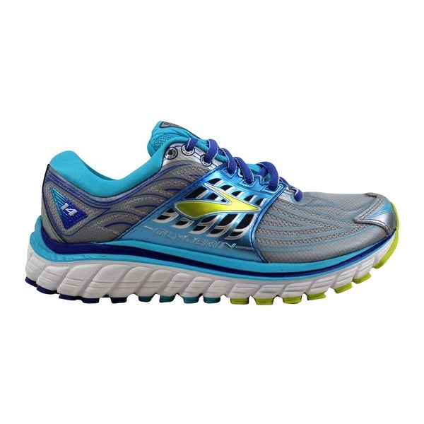 61a7782006e ... Women s Athletic Shoes. Brooks Glycerin 14 Silver Blue Atoll-Lime Punch  120217 1B 151 Women  x27