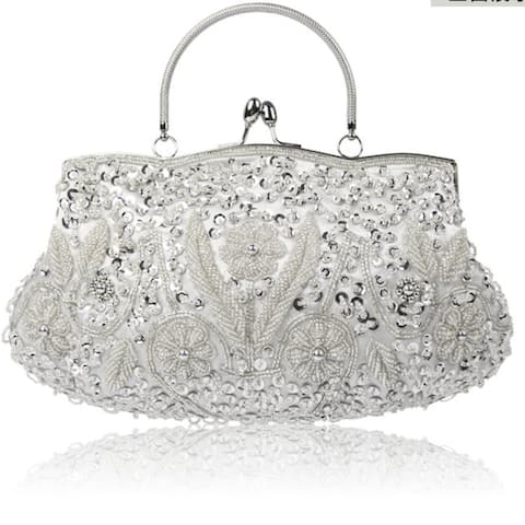 Women's Banquet Bag Clutch Handmade Beaded Embroidered Dresses Evening Bag Fashion Wild Party Product Multi-color