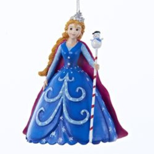 "4.75"" Princess Garden Snow Princess Christmas Ornament - BLue"