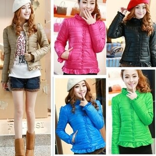 Women's fashion winter autumn jacket hooded coat Slim Down jacket coat cotton jacket