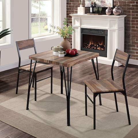 Furniture of America Nama Industrial 3-piece Dining Table Set