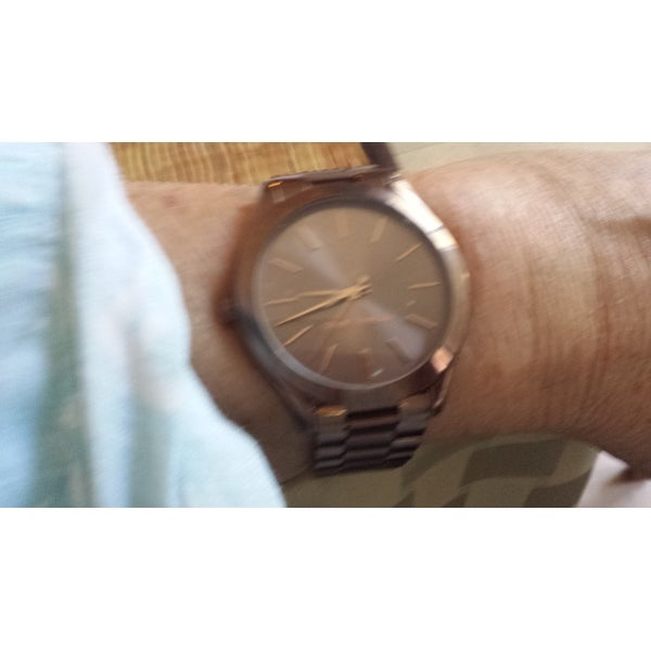 7a453643f096 Shop Michael Kors Women s  Slim Runway  Brown Stainless Steel Watch - Free  Shipping Today - Overstock - 12430187