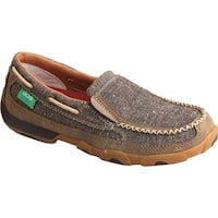 Twisted X Boots Women's WDMS009 Driving Moc Dust Canvas