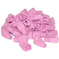 RJ45 Strain Relief Boots, Pink, 50 Pieces Per Bag