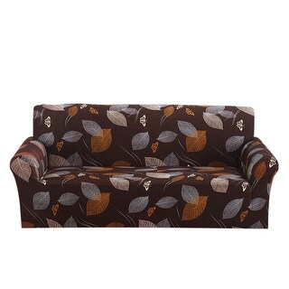 Leaves Pattern L-Shaped Stretch Sofa Covers Couch Slipcovers for 1 2 3 Seater