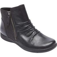 Rockport Women's Daisey Panel Slouch Boot Black Leather