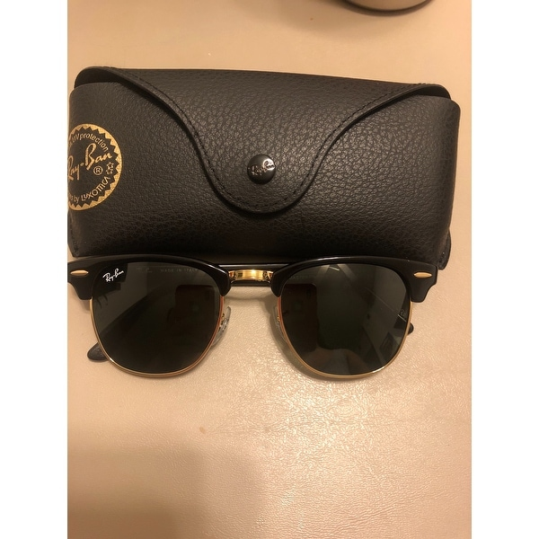6f4d04745a86cd ... coupon code shop ray ban clubmaster rb3016 w0365 black green g15 unisex  sunglasses black gold on