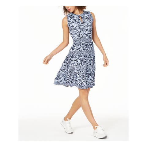 MICHAEL KORS Purple Sleeveless Knee Length Shift Dress Size S