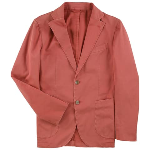 L.B.M. Mens Solid Two Button Blazer Jacket, red, 48 Regular - 48 Regular