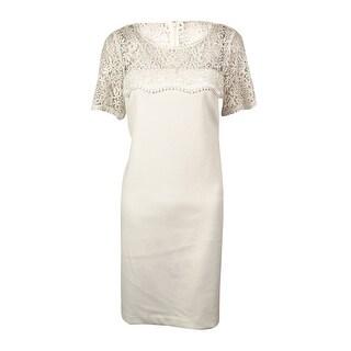 Jessica Simpson Women's Lace Shoulder and Neckline Dress - 6