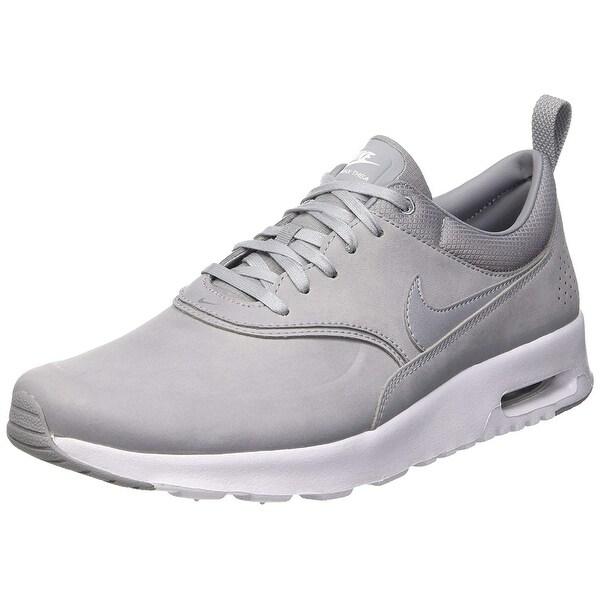 Nike Women's Air Max Thea Premium StealthPure PlatinumWhite 616723 009 9.5