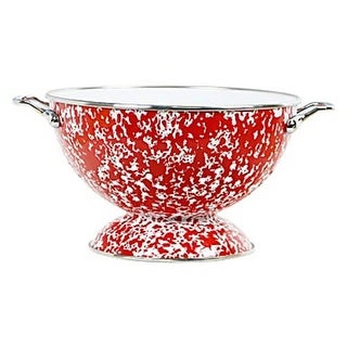 Reston Lloyd 80760 3 qt Calypso Basics Colander, Red Marble