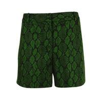 MICHAEL Michael Kors Women's Snake Print Shorts - Moss