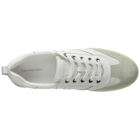 Calvin Klein Womens Sally Low Top Lace Up Fashion Sneakers