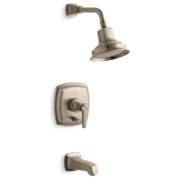Kohler K-T16233-4 Margaux Rite-Temp Pressure Balanced Bath and Shower Faucet Trim with Push-button Diverter and Lever Handle