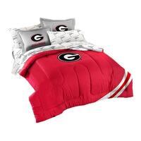 University of Georgia Bulldogs 7 Piece Full Size Comforter Set - Red