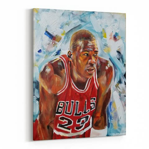 Basketball Michael Jordan Sports Canvas Wall Art Print