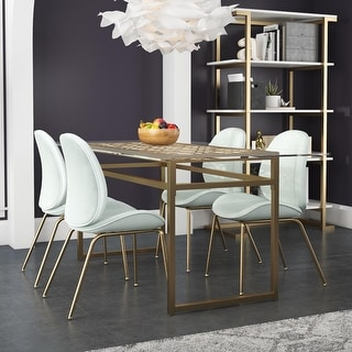 Link to Cosmoliving by Cosmopolitan Juliette Glass Top Dining Table Similar Items in Dining Room & Bar Furniture