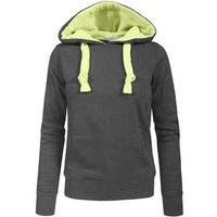 NE PEOPLE Women Basic Solid Comfortable Pullover Hoodie (NEWT97)