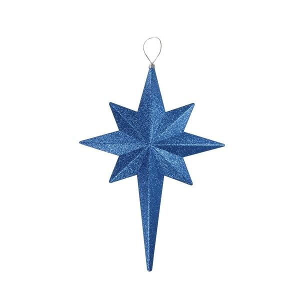 """20"""" Lavish Blue Glittered Bethlehem Star Shatterproof Christmas Ornament"""