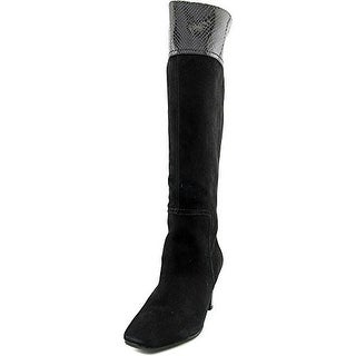Bandolino Viet Wide Calf Women Square Toe Suede Knee High Boot