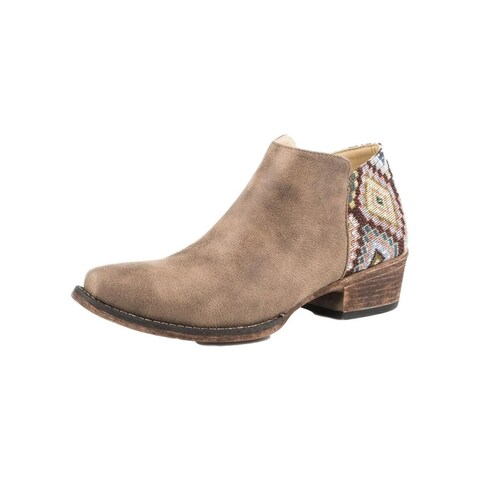 Roper Western Boots Womens Sedona TPR Sole Brown