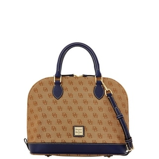 Dooney & Bourke Madison Signature Zip Zip Satchel (Introduced by Dooney & Bourke at $228 in Nov 2015) - Marine