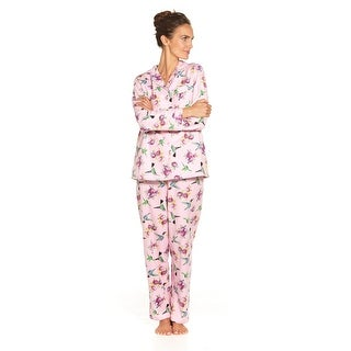 Women's Hummingbird Flannel Pajamas - Cute PJs