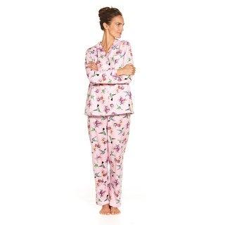 Women's Hummingbird Flannel Pajamas - Cute PJs (Option: 1x)