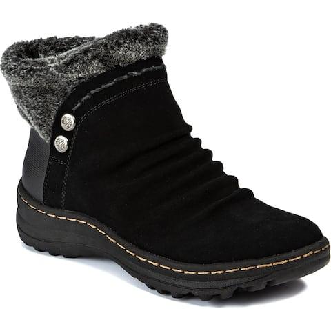 Baretraps Womens Alick Winter Boots Faux Fur Cold Weather