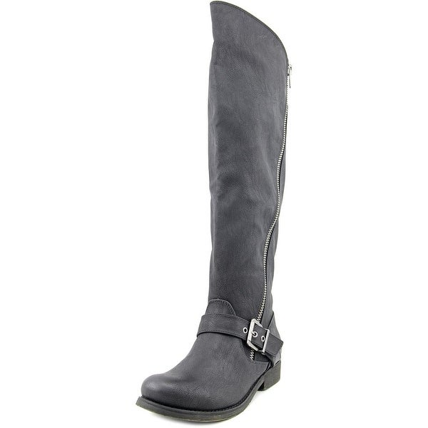 Carlos by Carlos Santana Gramercy Women Round Toe Synthetic Black Knee High Boot
