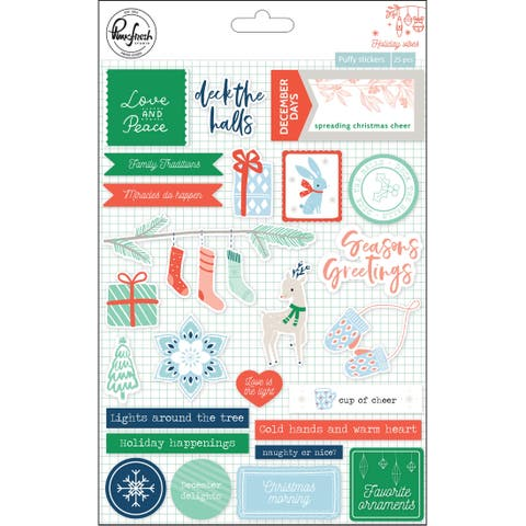 """Holiday Vibes Puffy Stickers 5""""X7"""" 25/Pkg-"""