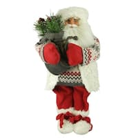 "18"" Nordic Santa Claus Christmas Table Top Figure - multi"