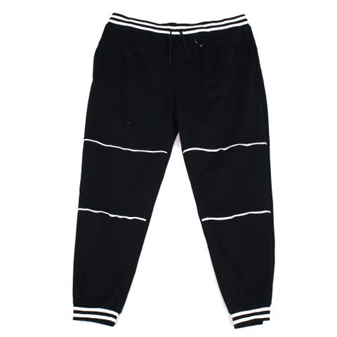 Ideology Mens Sweatpant Black Size 2XL Varsity Piped French Terry Jogger