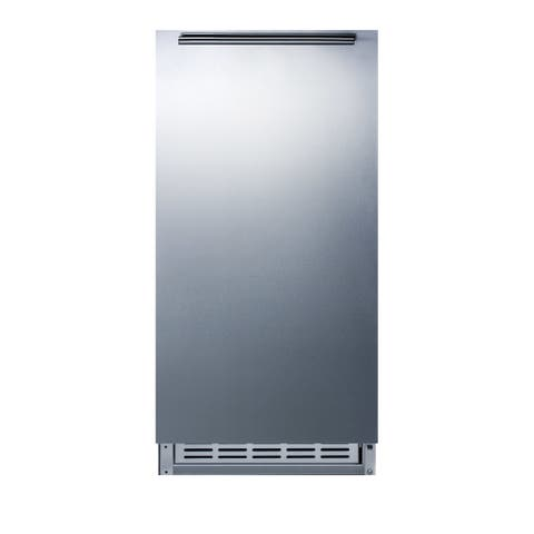"""Summit BIM25H32 15"""" Wide 12 Lbs. Capacity ADA Compliant Built-In Ice Maker with 12 Lbs. Daily Ice Production - Stainless Steel"""