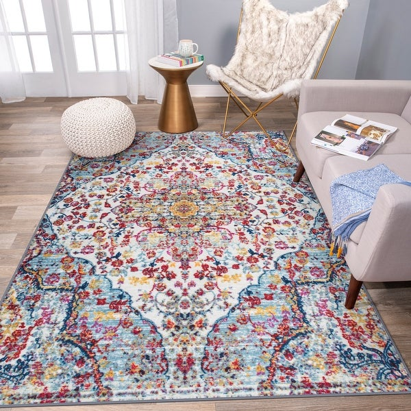 Transitional Medallion Non Skid Area Rug. Opens flyout.