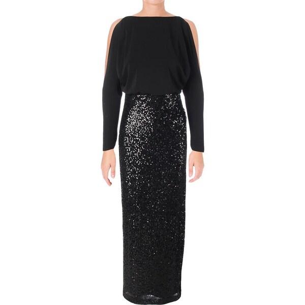 Lauren Ralph Lauren Womens Perina Semi-Formal Dress Evening Sequin