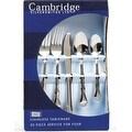 Cambridge Silversmiths 30920PSGM12 Jessica Flatware Set, Mirror, 20 Piece - Thumbnail 0