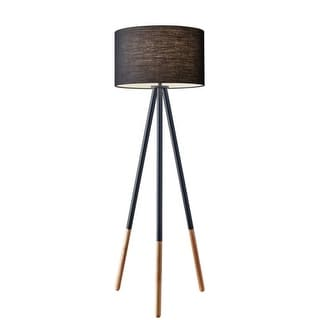 """Adesso 6285 Louise 1 Light 71.5"""" Tall Tripod Floor Lamp with Fabric Drum Shade"""