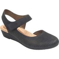Rockport Women's Cobb Hill Judson Closed Toe Sandal Black Full Grain Leather