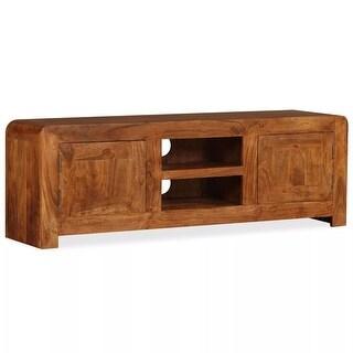 "vidaXL TV Cabinet Solid Wood with Sheesham Finish 47.2""x11.8""x15.7"""