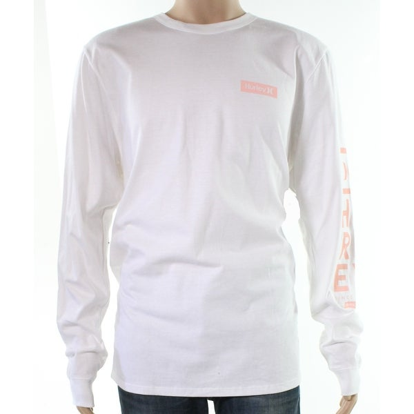 38c9744a4 Shop Hurley White Pink Mens Size Large L Logo Graphic Print Tee T-Shirt - Free  Shipping On Orders Over $45 - Overstock - 28230170