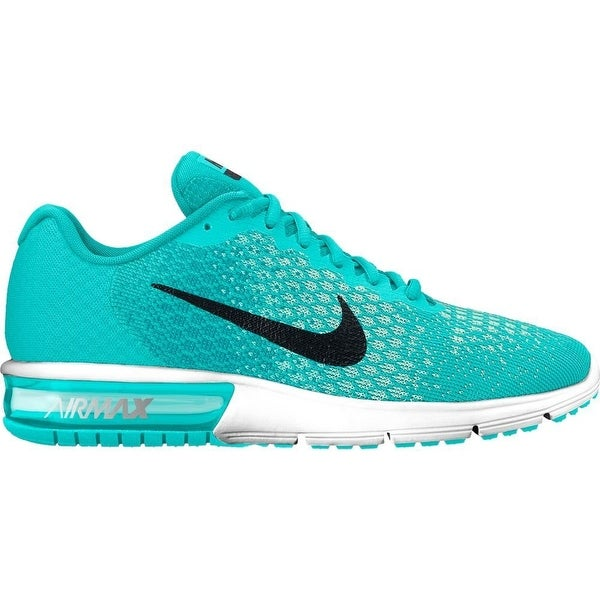 ced9bd5ea1 Shop Nike Air Max Sequent 2 Aurora Green/Black/Turbo Green/Igloo Women's Running  Shoes - Free Shipping Today - Overstock - 17950059