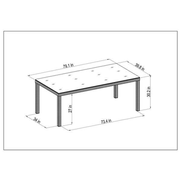 Midtown Concept Rouge Indoor Dining Table - 1 PC