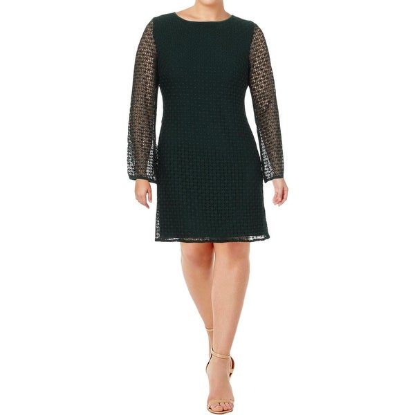 cb25e147556 Shop Lauren Ralph Lauren Womens Cocktail Dress Lace Long Sleeves ...