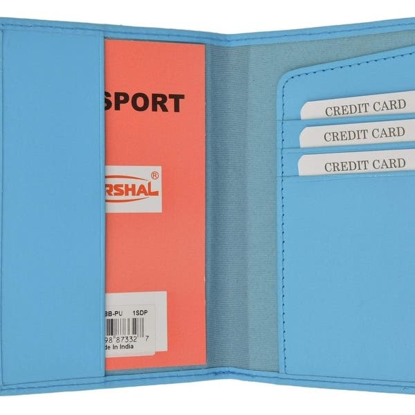 Mens Genuine Leather Credit Card Holder Case Passport Cover BOOK Style
